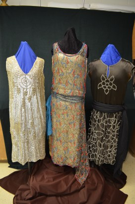 Elizabeth Mallory Litton's dress is on the left.